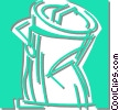Vector Clip Art image  of a garbage can