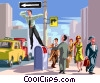 Vector Clip Art image  of a Businessman standing on a