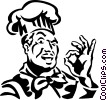 Vector Clip Art graphic  of a chef