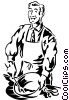 businessman cooking Vector Clipart picture