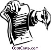 Vector Clip Art graphic  of a contract ready to be signed