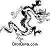 Vector Clip Art image  of a Chinese dragon