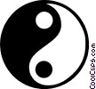 Vector Clipart illustration  of a ying yang