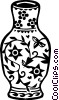 Vector Clip Art graphic  of a Ming vase