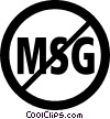 no MSG sign Vector Clipart image