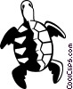 Vector Clipart image  of a turtle