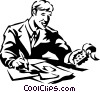Vector Clip Art picture  of an accountant