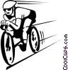 Vector Clipart graphic  of a cyclist