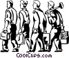 Vector Clipart illustration  of a business and trade people