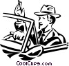 businessman driving a car Vector Clipart picture