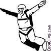 Vector Clip Art picture  of a sky diver