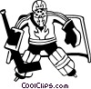 hockey goalie Vector Clip Art picture