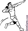 Vector Clipart image  of a Shot-put