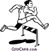 Hurdles Vector Clipart illustration