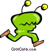 Vector Clip Art graphic  of an Alien