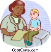 Vector Clip Art image  of a Doctors with Patients