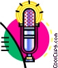Vector Clipart picture  of a microphone