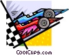 Vector Clipart graphic  of a race cars