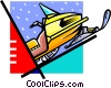 Vector Clip Art image  of a snowmobile