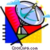 Vector Clip Art image  of a satellite dish