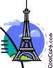 Vector Clip Art image  of a Eiffel Tower