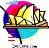 Vector Clip Art graphic  of a Opera House