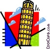 Leaning Tower of Pisa Vector Clipart image