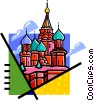 Russian buildings Vector Clipart graphic