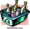 recycle box with bottles Vector Clipart image