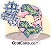 recycling money Vector Clipart illustration
