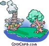 environmental showdown Vector Clipart illustration