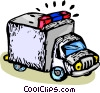 Vector Clip Art picture  of a police paddy wagon