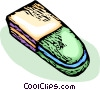 Vector Clip Art graphic  of a eraser