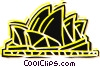Vector Clipart illustration  of a Opera House in Australia
