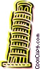 Vector Clip Art image  of a Leaning Tower of Pisa
