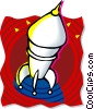 rocket Vector Clip Art graphic
