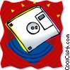 Vector Clip Art picture  of a floppy disk