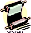Vector Clip Art picture  of a scroll