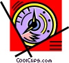 wall clock Vector Clipart graphic