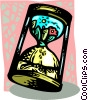 Vector Clipart image  of a environment in an hourglass