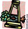 wheat in a guillotine Vector Clipart image