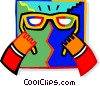 Vector Clip Art graphic  of a glasses
