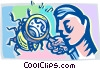 bug research Vector Clipart graphic