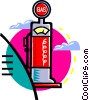 Vector Clipart picture  of a gasoline pump