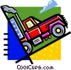 Vector Clip Art graphic  of a transport truck