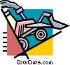 Vector Clipart image  of a front end loader