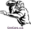 football quarterback Vector Clipart illustration