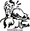 Vector Clip Art picture  of a boxer