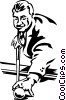 Vector Clipart image  of a pool player