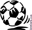 Vector Clip Art image  of a soccer ball